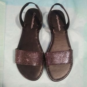 NWOT Cityclassified Bling Sandals - Size 7
